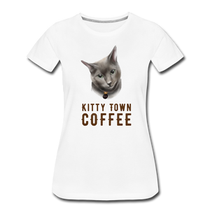Max Kitty Town Coffee Shirt - white