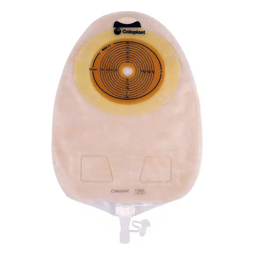 Bolsa de Urostomía Drenable Transparente Coloplast SenSura Click con Barrera Plana Recortable de 10 a 76 MM