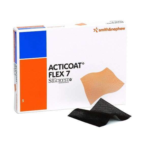 Apósito Antimicrobiano con Plata Flexible Smith & Nephew Acticoat Flex 7 de 15 X 15 CM