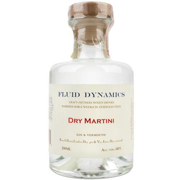 Fluid Dynamics Dry Martini Cocktail