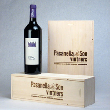 Wood Gift Box 1 Bottle