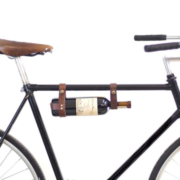 Leather Bicycle Bottle Holder