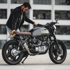 Honda restoration cafe racer motorcycle paint