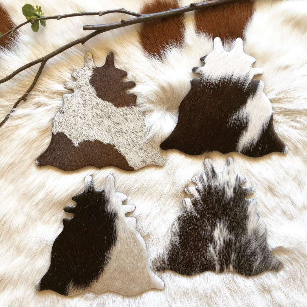 Cowhide Coasters #0021