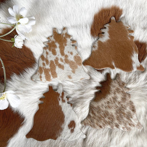 Cowhide Coasters #0037