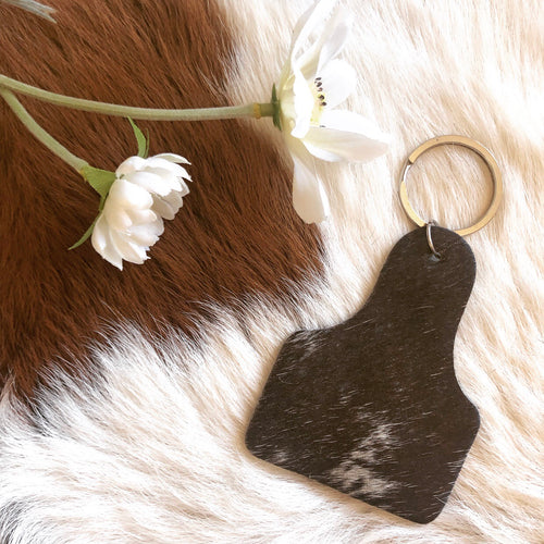 'CATTLE TAG' Keychain #0025