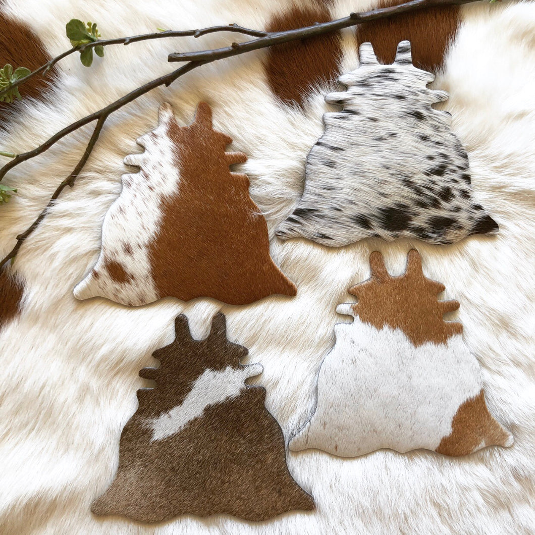 Cowhide Coasters #0028