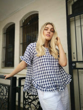 Load image into Gallery viewer, 'TULLY' Top - Navy Gingham