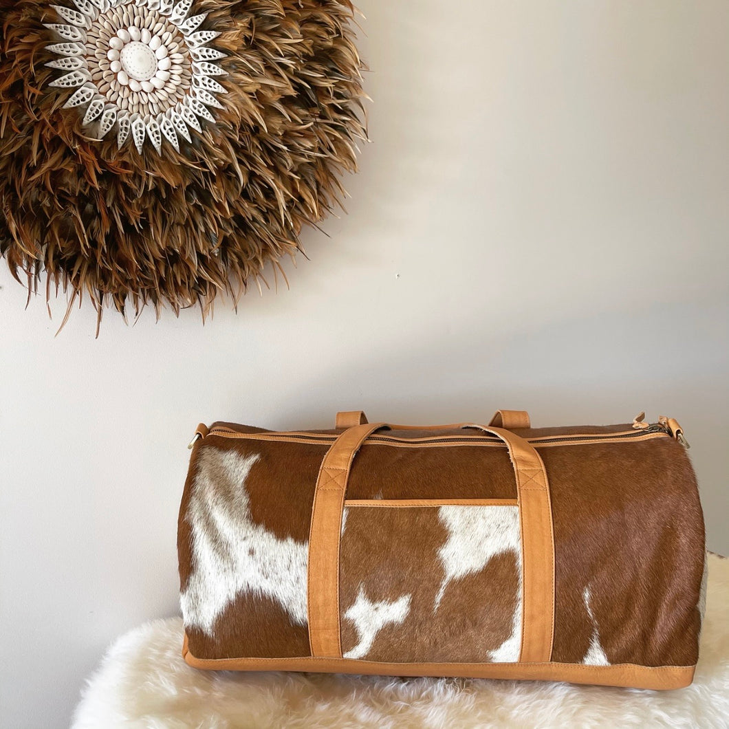 'LAGUNA' Duffle Bag #0032 - TAN
