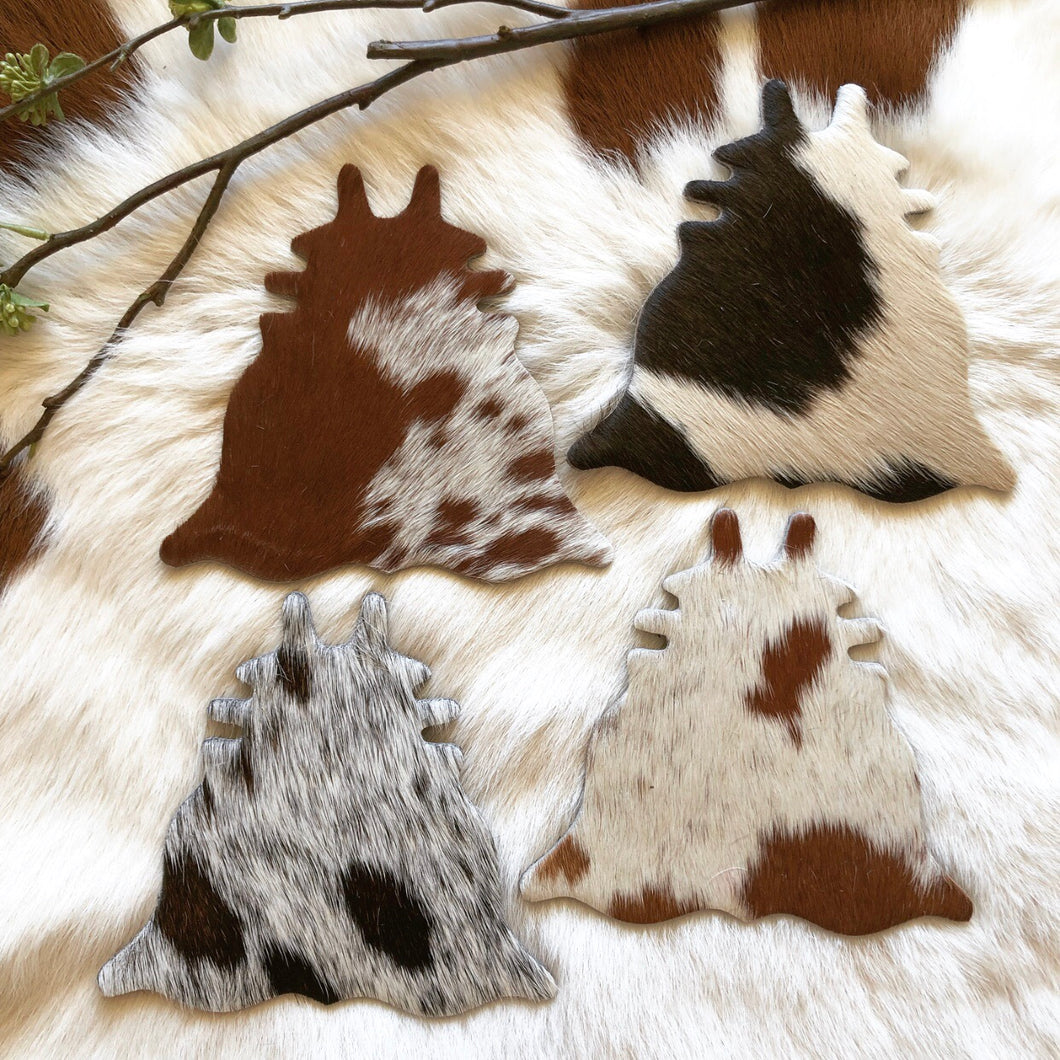Cowhide Coasters #0030
