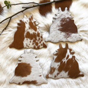 Cowhide Coasters #0024