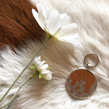 Load image into Gallery viewer, Cowhide Keyring #009