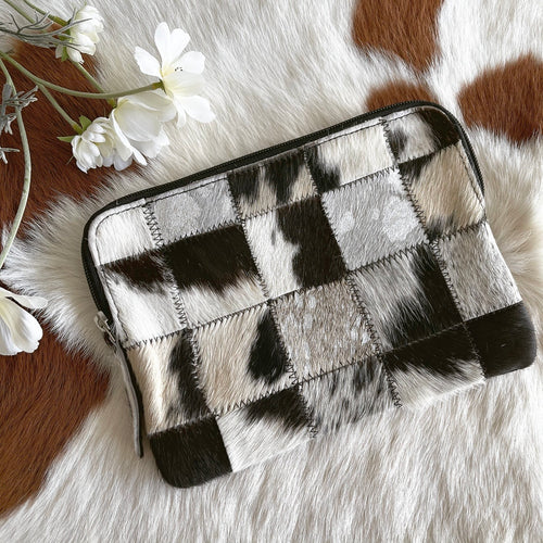 'MINK' Clutch - Black & White