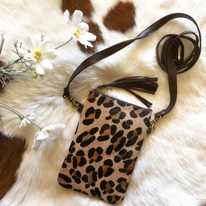 'KENNY' Phone Bag - Leopard
