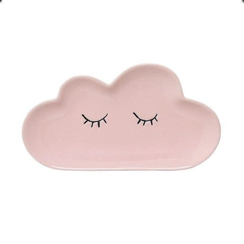 Ceramic Smilla Cloud Plate in Rose by BD Mini