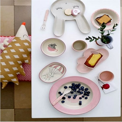 Ceramic Smilla Cloud Plate Pink