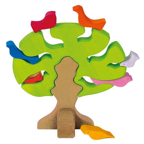NIC Toys Wooden Bird Tree