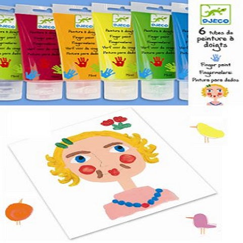 Djeco Finger Paint Tubes Set of 6