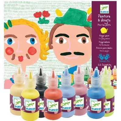 Djeco Finger Dabbing Paint Set