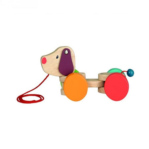 Egmont Toys Wooden Pull Along Toddler Toy, Dog