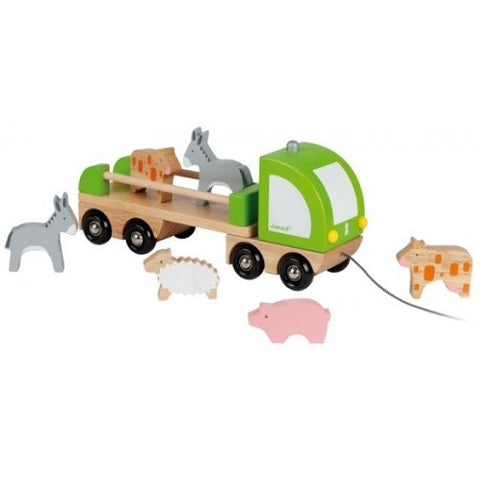 Janod Multi Animo Farm Truck Set