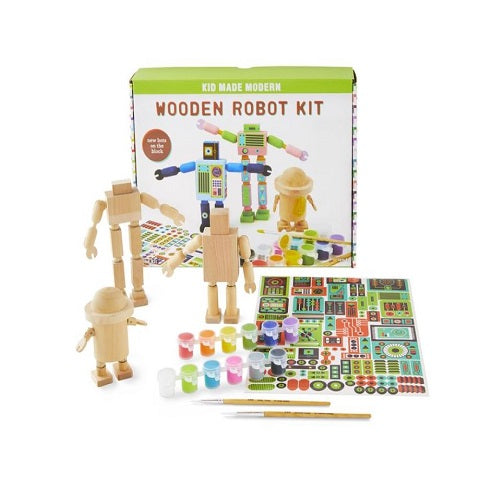 Kid Made Modern Wooden Robots Kit
