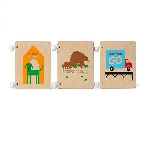 KidO Animal Homes Wooden Book