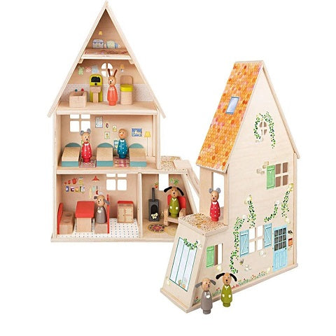 Moulin Roty La Grande Dollhouse with Furniture