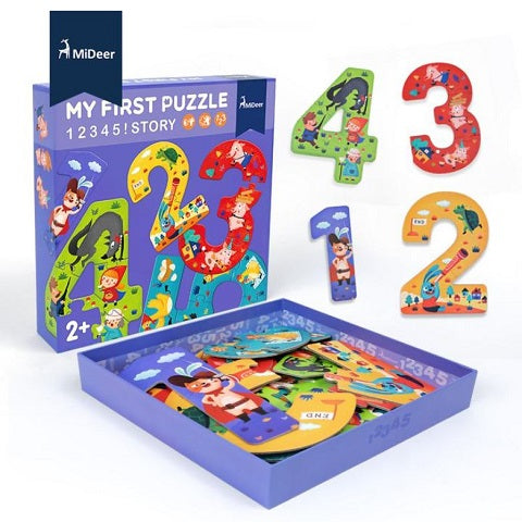 Mideer My First Puzzle Set of Number Puzzles 1 to 5