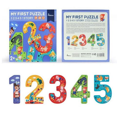 Mideer My First Puzzle Set of Number Puzzles 1 to 5 Story