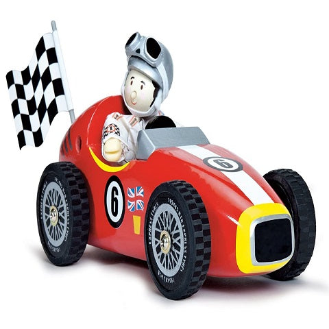 Le Toy Van Retro Racer and Budkin Figure