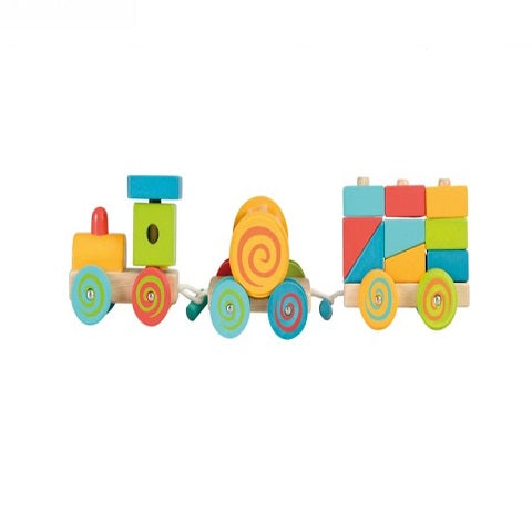 Egmont Toys Wooden Pull-Along Toddler Toy Train