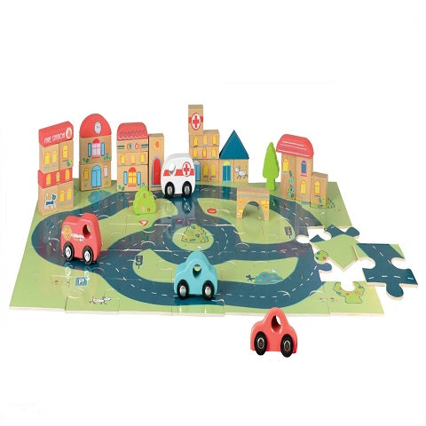 Egmont Toys Puzzle & City Car Playset