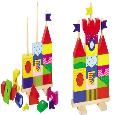 Goki Stacking Castle Building Bricks