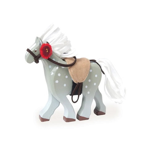 Budkins Grey Wooden Horse