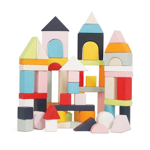 Le Toy Van 60 Building Blocks & Cotton Bag