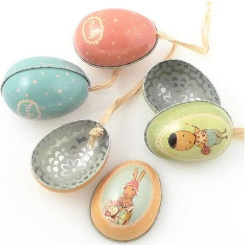 Maileg Small Tin Egg, Boy Bunny