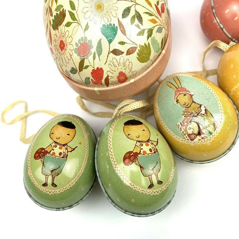 Maileg Small Tin Egg, Boy Chick