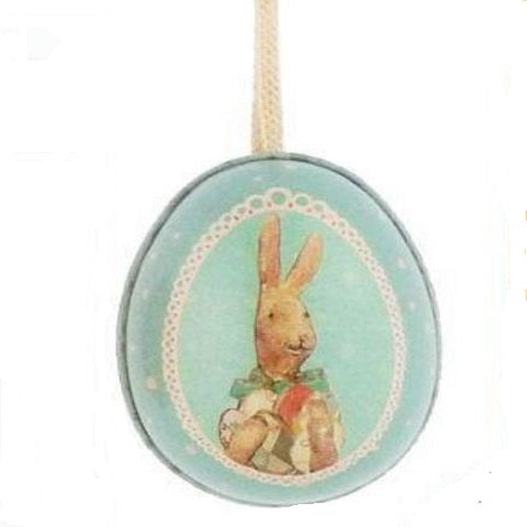 Maileg Small Tin Easter Egg, Boy Bunny