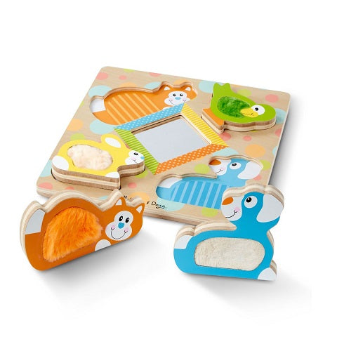 Melissa & Doug First Play Wooden Touch and Feel Puzzle