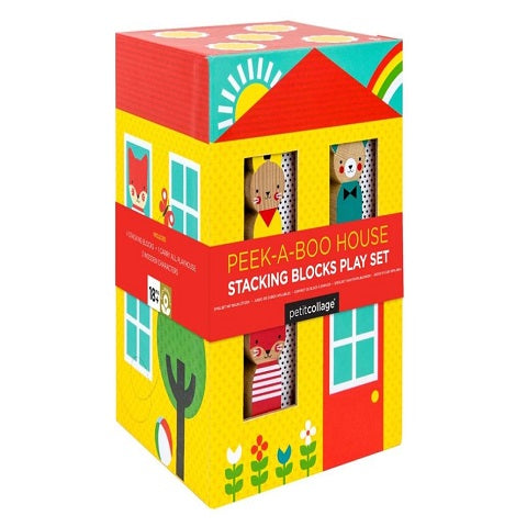 Petit Collage Peek-a-boo Stacking Blocks Play Set