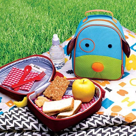 Skip Hop Zoo Kids Insulated Lunch Box, Darby Dog