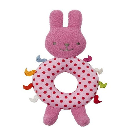 Trousselier Bunny Ring Rattle, Fuschia