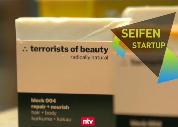 Terrorists of beauty's natural soaps were presented on n-tv's Startup News programme.