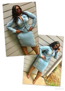 Denim Blues 2pc Set