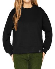 womens black organic cotton sweatshirt front