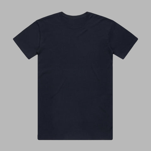 Premium Organic Cotton T-Shirts - Black/Dark Navy/Grey Marl - 3 Pack