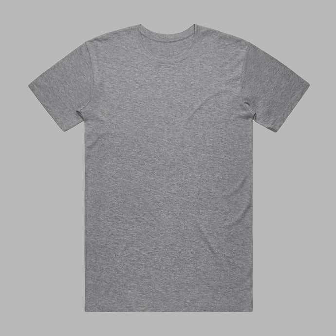 Front of Marl Grey premium organic cotton T Shirt