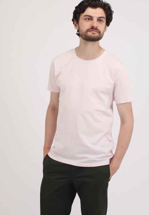 Light Pink Short Sleeve Organic Cotton T-Shirt