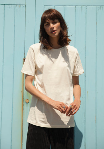 Light Yellow Short Sleeve Organic Cotton T-Shirt